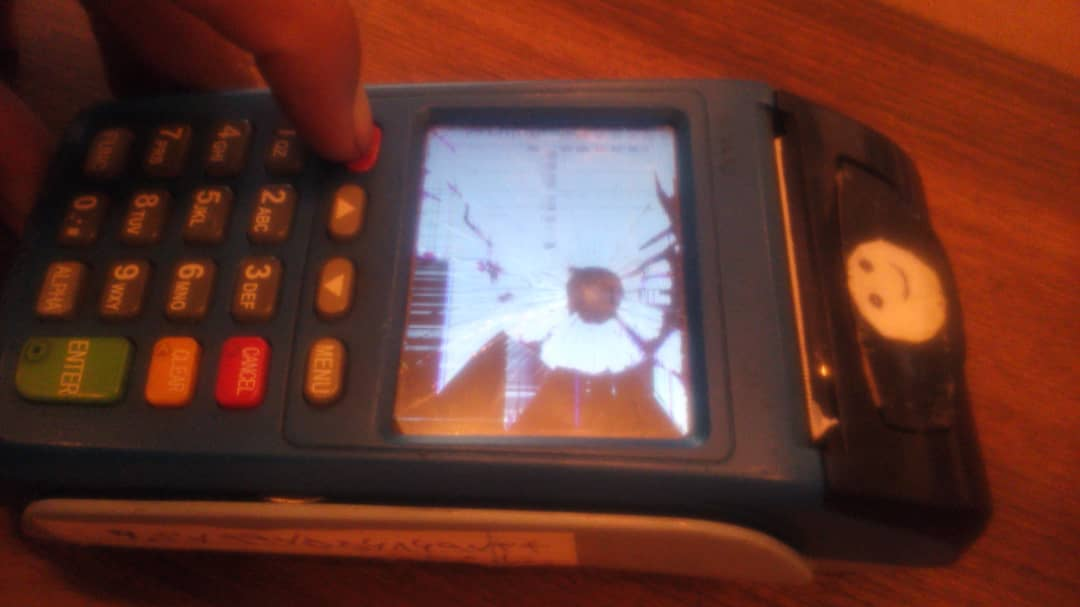 تمپر شدن به علت شکستگی مانیتور دستگاه